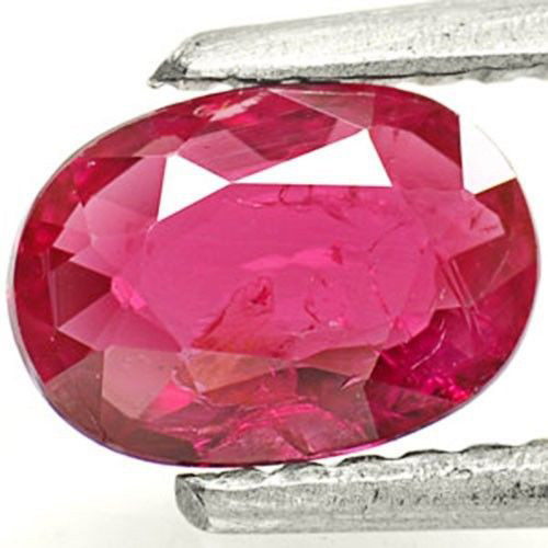 Mozambique Ruby, 0.85 Carats, Intense Pinkish Red Oval