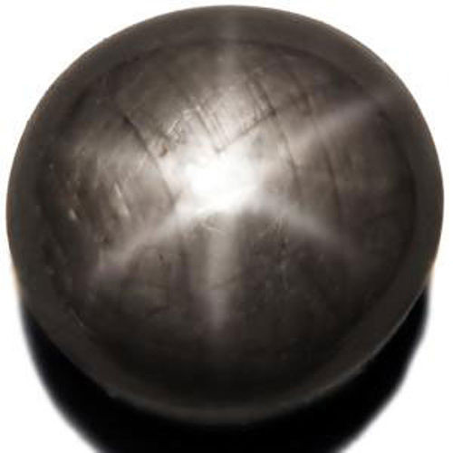 Madagascar Black Star Sapphire, 4.10 Carats, Greyish Black Round
