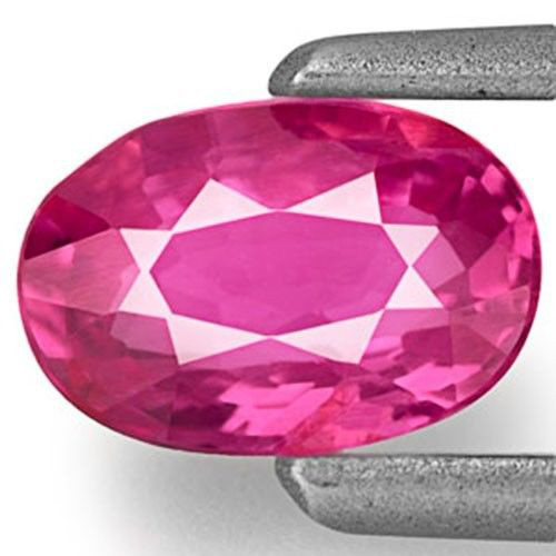 Mozambique Ruby, 0.51 Carats, Lustrous Pinkish Red Oval