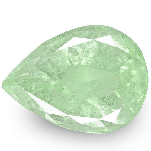 Colombia Emerald, 6.75 Carats, Light Bluish Green Pear