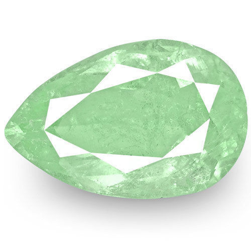 Colombia Emerald, 3.19 Carats, Lustrous Bluish Green Pear