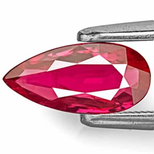 AIGS Certified Mozambique Ruby, 1.01 Carats, Red Pear