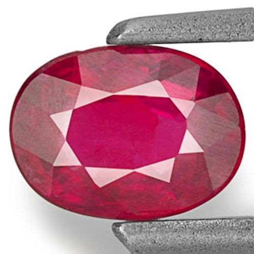 Mozambique Ruby, 0.60 Carats, Pinkish Red Oval