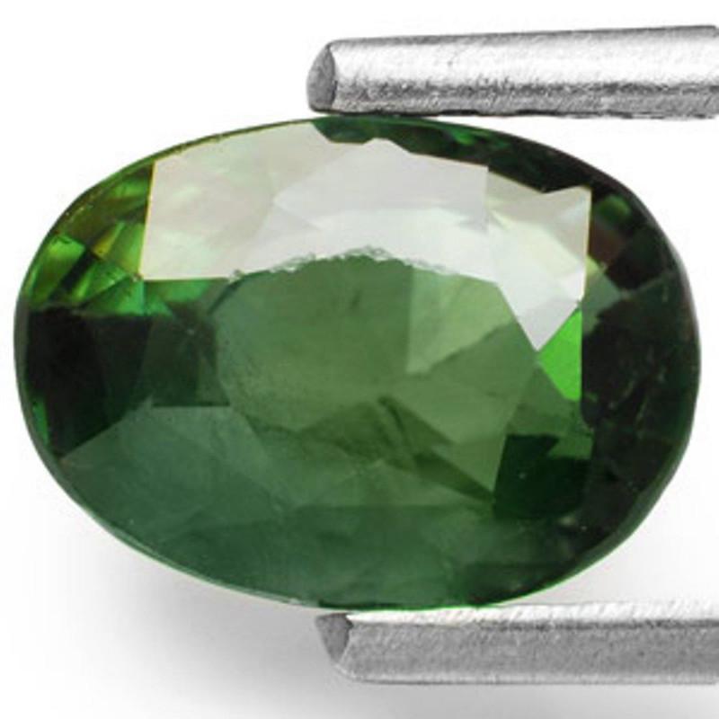 IGI Certified Sri Lanka Fancy Sapphire, 1.72 Carats, Dark Green Oval