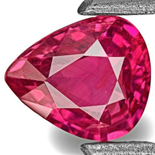 IGI Certified Mozambique Ruby, 0.49 Carats, Intense Pinkish Red Pear