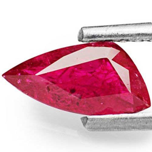 IGI Certified Mozambique Ruby, 0.85 Carats, Magenta Red Trilliant