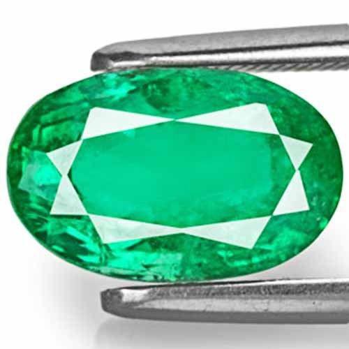 Zambia Emerald, 3.42 Carats, Dark Green Oval