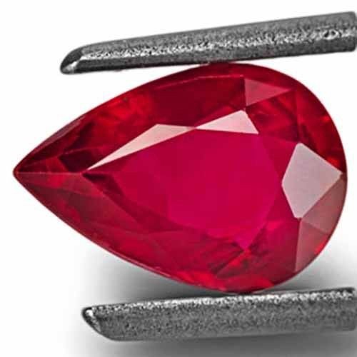 Mozambique Ruby, 1.14 Carats, Intense Pinkish Red Pear