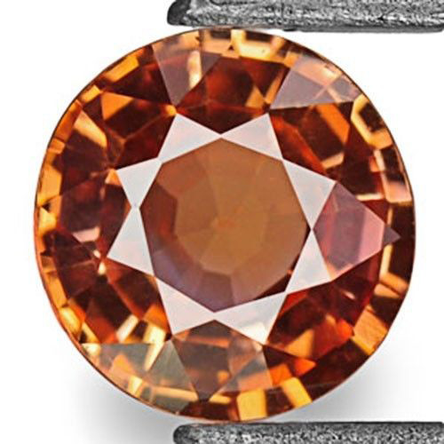 IGI Certified Sri Lanka Padparadscha Sapphire, 0.37 Carats, Dark Orange