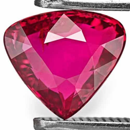 Mozambique Ruby, 1.02 Carats, Intense Red Heart