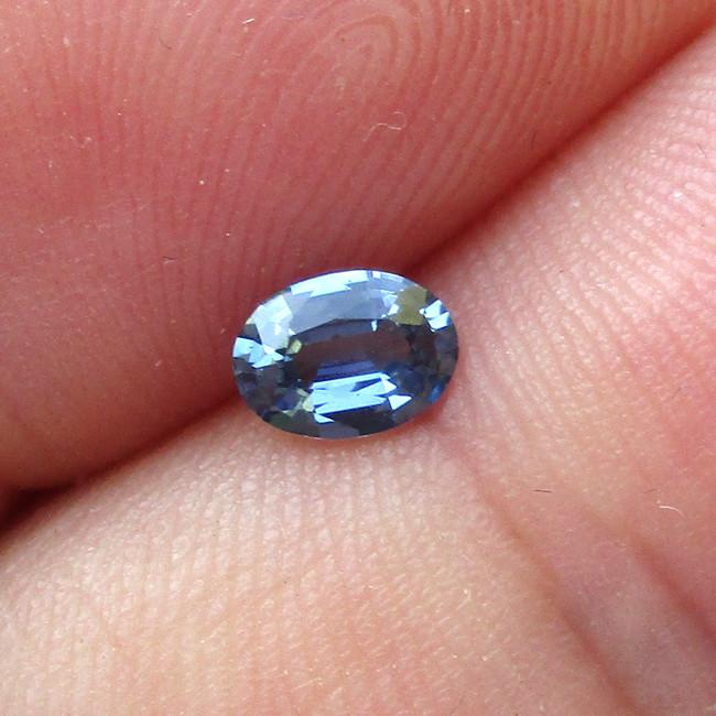 0.38cts Natural Australian Blue Sapphire Oval Cut