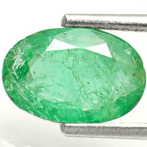 AIGS Certified Zambia Emerald, 1.72 Carats, Grass Green Oval