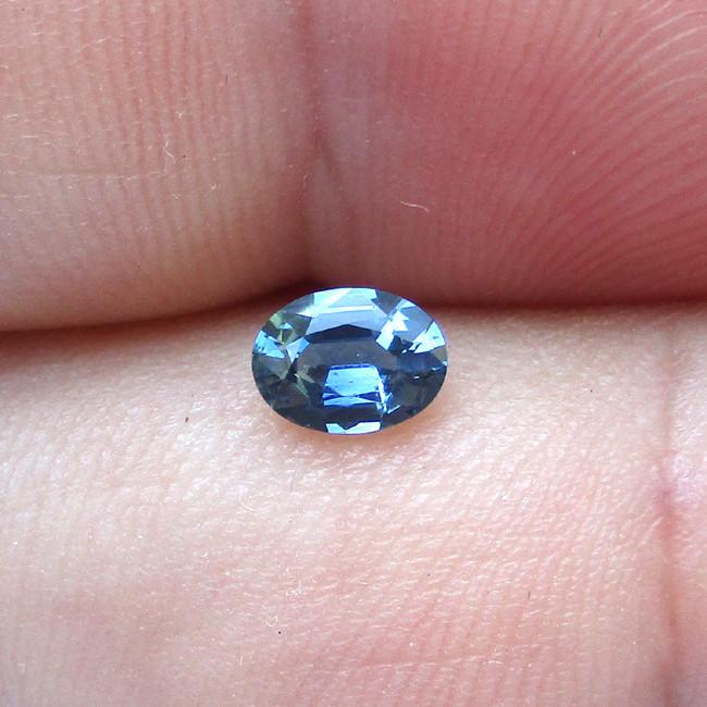 0.46cts Natural Australian Blue Sapphire Oval Cut