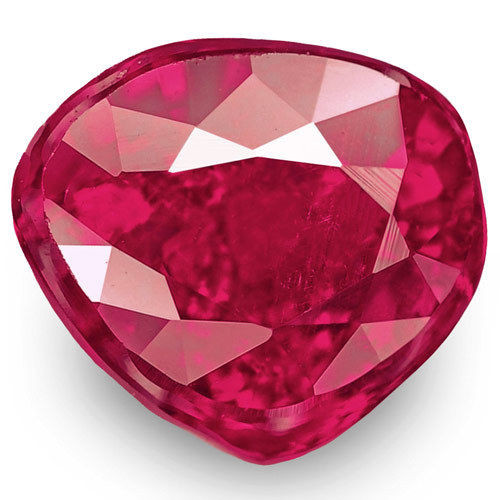 Mozambique Ruby, 1.00 Carats, Rich Pinkish Red Pear