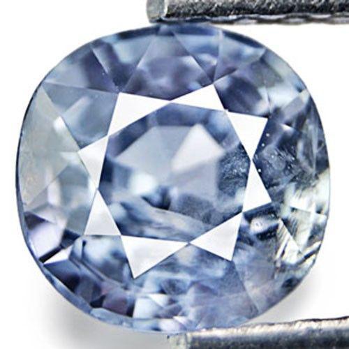 Burma Blue Sapphire, 1.06 Carats, Soft Blue Cushion