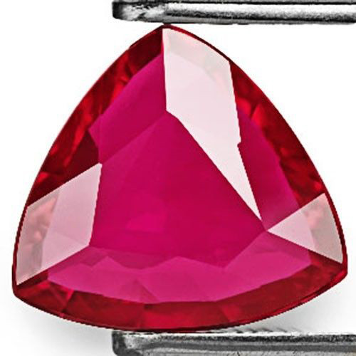 GRS Certified Mozambique Ruby, 2.04 Carats, Magenta Red Triangular