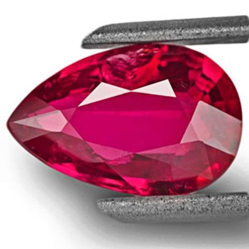 GRS Certified Mozambique Ruby, 2.01 Carats, Intense Red Pear