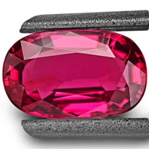 GRS Certified Mozambique Ruby, 2.11 Carats, Vivid Pinkish Red Oval