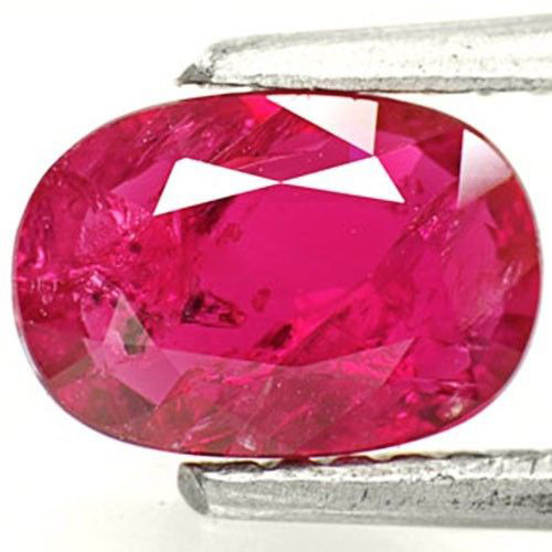 Mozambique Ruby, 1.01 Carats, Intense Pinkish Red Oval
