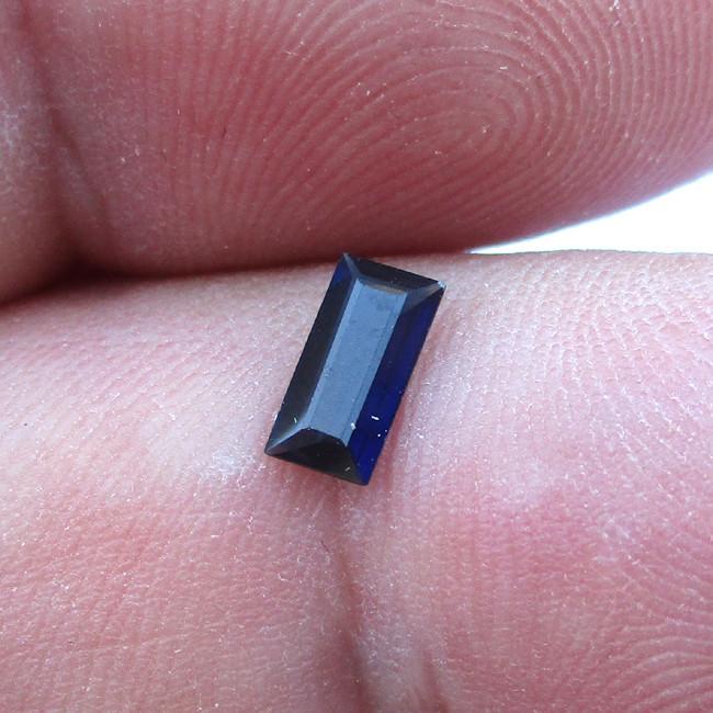 0.37cts Natural Australian Blue Sapphire  Baguette Cut