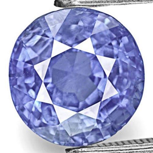 IGI Certified Burma Blue Sapphire, 4.65 Carats, Round