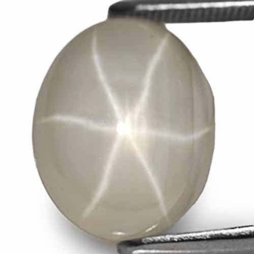 Sri Lanka Fancy Star Sapphire, 13.43 Carats, Yellowish White Oval
