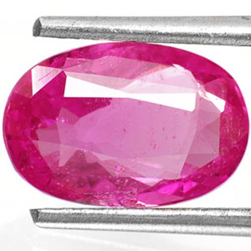 AIGS Certified Sri Lanka Pink Sapphire, 2.81 Carats, Dark Pink Oval