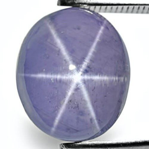Sri Lanka Blue Star Sapphire, 7.36 Carats, Intense Violetish Blue Oval