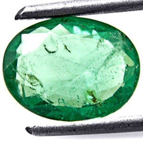 Zambia Emerald, 1.54 Carats, Vivid Green Oval