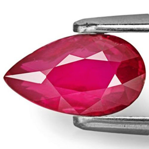 GRS Certified Mozambique Ruby, 2.01 Carats, Deep Red Pear