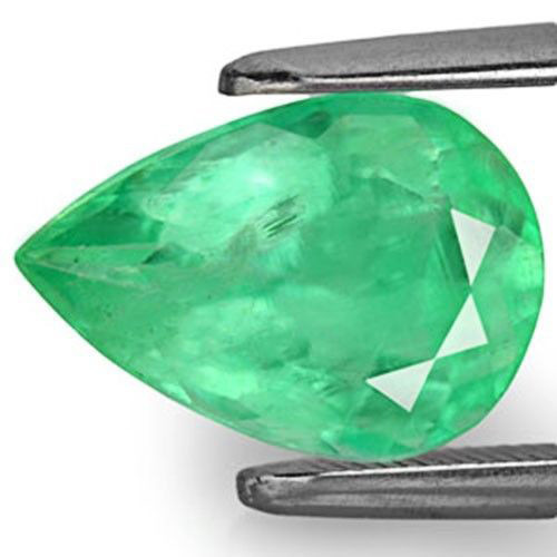 Colombia Emerald, 2.84 Carats, Light Green Pear