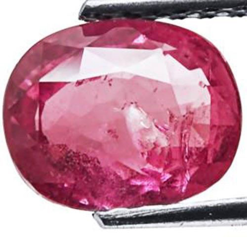 GII Certified Madagascar Ruby, 2.43 Carats, Intense Pink Oval