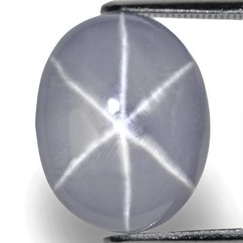 GIA Certified Sri Lanka Fancy Star Sapphire, 16.55 Carats, Bluish Grey Oval