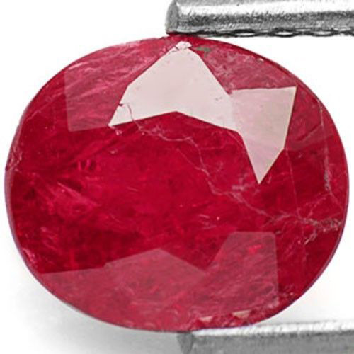 Mozambique Ruby, 1.69 Carats, Purplish Red Oval