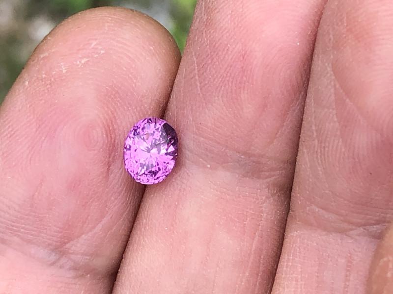 Very pretty pink sapphire.