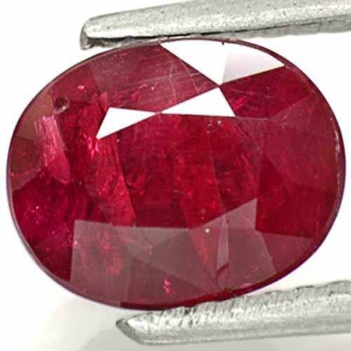Tanzania Ruby, 2.49 Carats, Pigeon Blood Red Oval