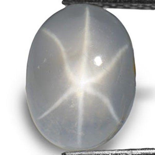 AIGS Certified Sri Lanka Fancy Star Sapphire, 2.93 Carats, Grey Oval
