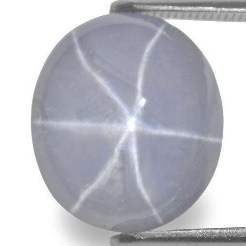 Sri Lanka Fancy Star Sapphire, 13.42 Carats, Soft Purplish White Oval