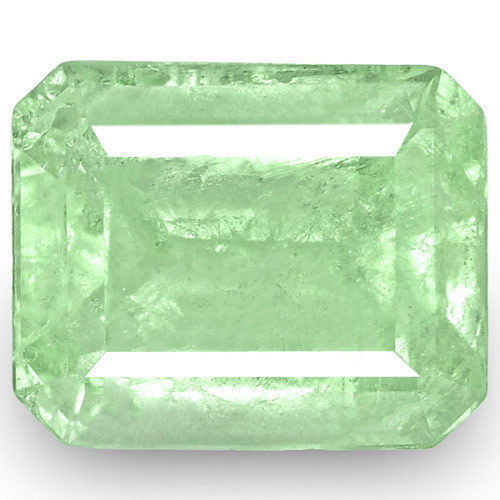 Colombia Emerald, 4.76 Carats, Lustrous Bluish Green Emerald Cut