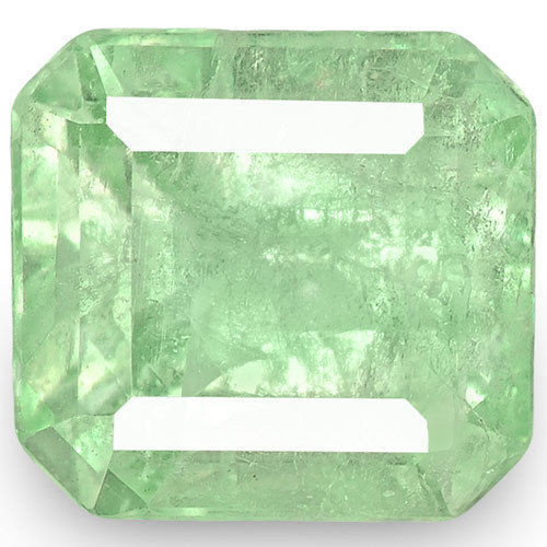Colombia Emerald, 5.24 Carats, Lustrous Bluish Green Emerald Cut