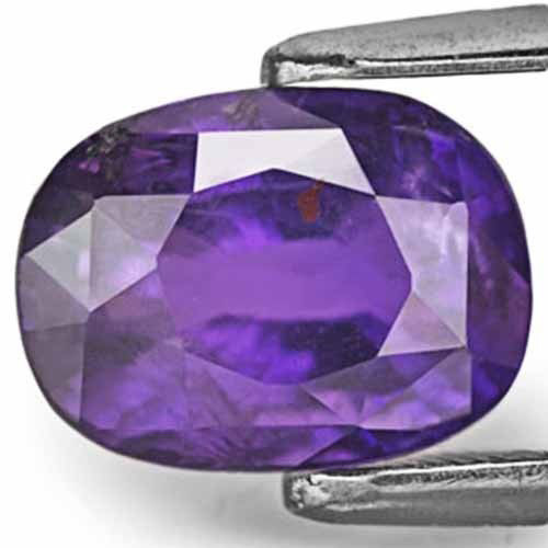 IGI Certified Sri Lanka Fancy Sapphire, 3.78 Carats, Deep Bluish Violet