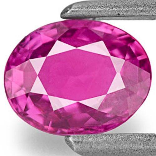 Mozambique Ruby, 0.76 Carats, Intense Pinkish Purple Oval
