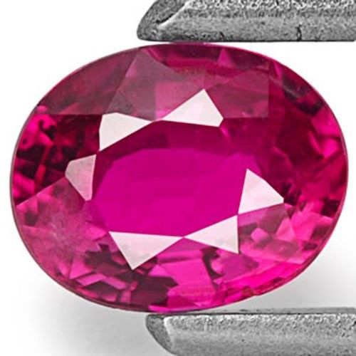 Mozambique Ruby, 0.40 Carats, Vivid Pinkish Red Oval