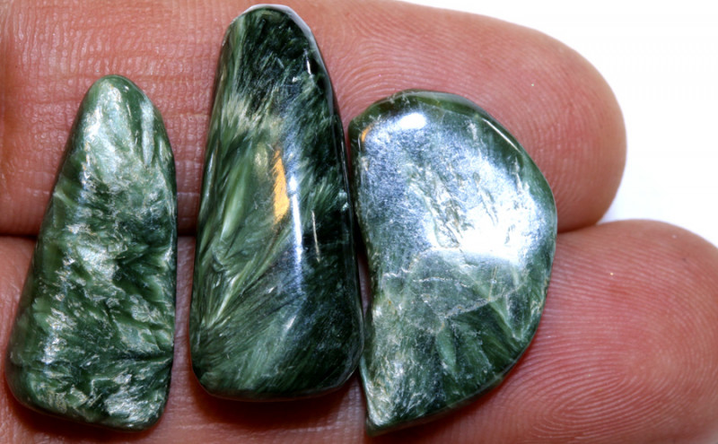 36CTS GREEN SERAPHINITE PARCEL ADG-382