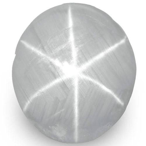 IGI Certified Sri Lanka Fancy Star Sapphire, 4.86 Carats, Pale Bluish Grey