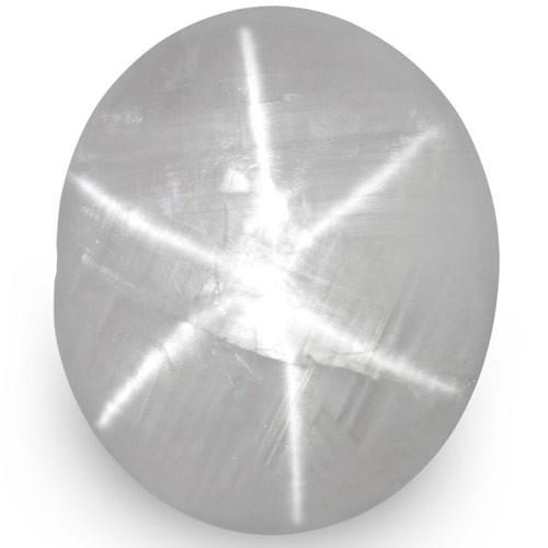 IGI Certified Sri Lanka Fancy Star Sapphire, 8.14 Carats, Pale Bluish White