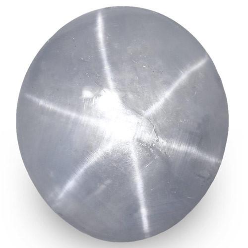 IGI Certified Sri Lanka Blue Star Sapphire, 7.91 Carats, Greyish Blue OvalI