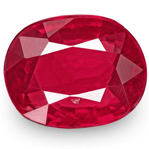 Mozambique Ruby, 0.99 Carats, Rich Pinkish Red Oval
