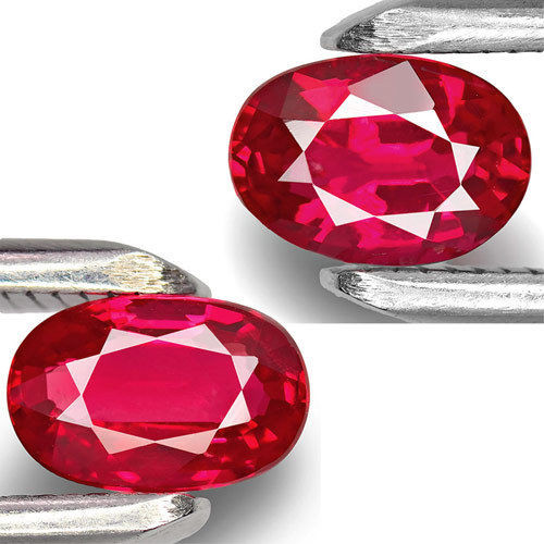 Mozambique Rubies, 1.79 Carats, Fiery Pinkish Red Oval