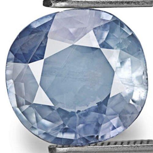 AIGS Certified Burma Blue Sapphire, 2.72 Carats, Sky Blue Cushion